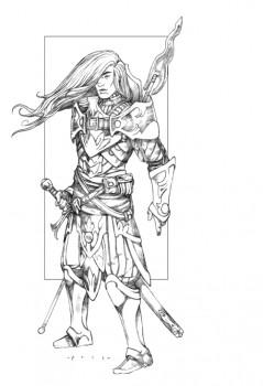 Vigbrandur Fleetwood: AD&D 1E Unearthed Arcana Fighter, Level 6, Art by RK Post