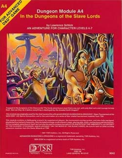 A4: In the Dungeons of the Slave Lords; cover art by Erol Otus