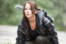 Image of the lead character, Katniss, from The Hunger Games film.