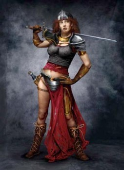 Caramon was a loser, but often losers get the hot girl...