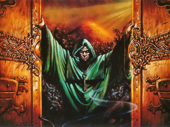 Abandon Hope... and yet we enter anyway... certainly one of the most iconic images from artist Jeff Easley