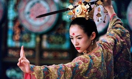 Ziyi Zhang as Xiao Mei in HOUSE OF FLYING DAGGERS, Yimou's second kung fu masterpiece.