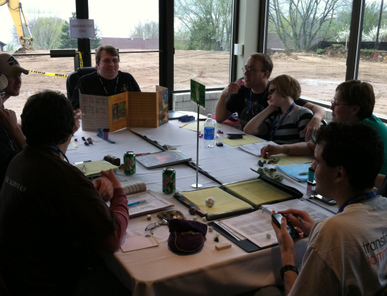 A game of AD&D in progress