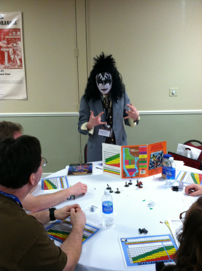 Michael Browne gets into the spirit of things for a Kiss-tastrophe game of Marvel Super Heroes.