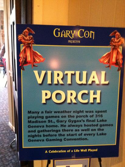 Gary's Virtual Porch (Open Gaming)