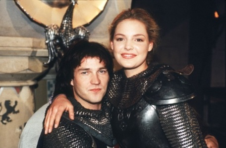 A young Heigl and her Prince Valiant