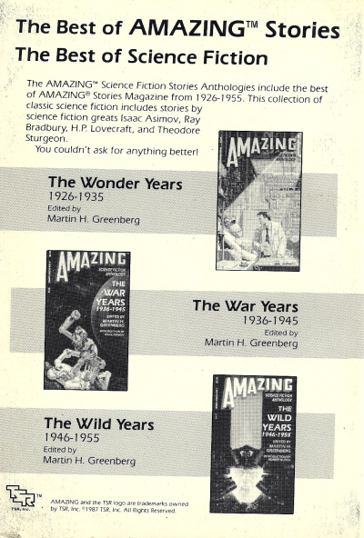 Ad for The Best of Amazing Stories, back cover of Amazing Stories (July 1988)