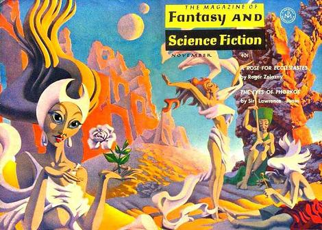 "Hannes Bok cover rt for Roger Zelazny's ""A Rose for Ecclesiastes"" (F&SF, November 1963)"