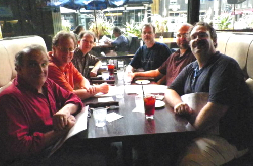 Dinner with James Enge, Rich Horton, Howard Andrew Jones, John O'Neill, Jason Waltz, and Bryan Thomas Schmidt