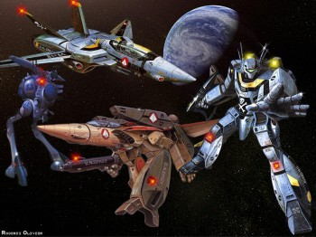 Veritech, meaning a giant airplane that transforms into a combat robot, nuf said