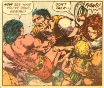 Red Sonja just told Conan to shut up