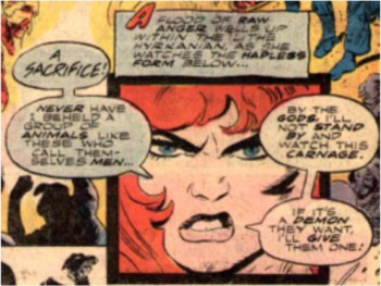 If Red Sonja ever looks at you this way ... just run.