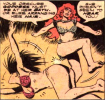No, Sonja, we didn't mean you should literally kick her ... you know what? Never mind.