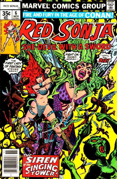 Red Sonja 6 cover