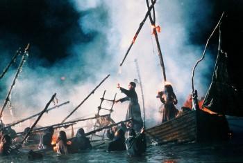 Production still from The Navigator, 1988, dir Vincent Ward, prod John Maynard.