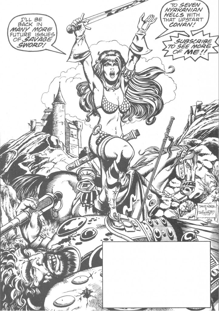 And that's how Red Sonja really felt about Conan.