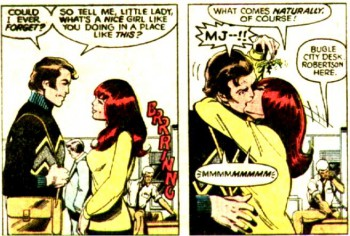 Back in the Bronze Age of Comics, this was Mary Jane Watson being subtle.