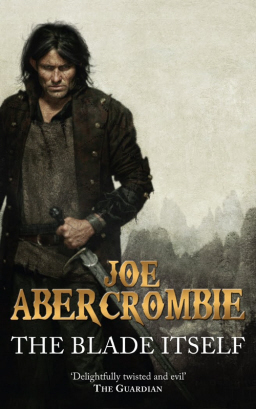 Logen Ninefingers on the cover of Joe Abercrombie's The Blade Itself