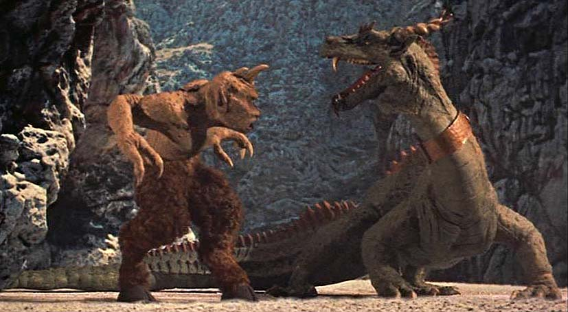 7th Voyage of Sinbad Ray Harryhausen Dragon vs Cyclops