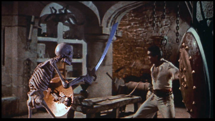 7th Voyage of Sinbad Ray Harryhausen Skeleton Fight