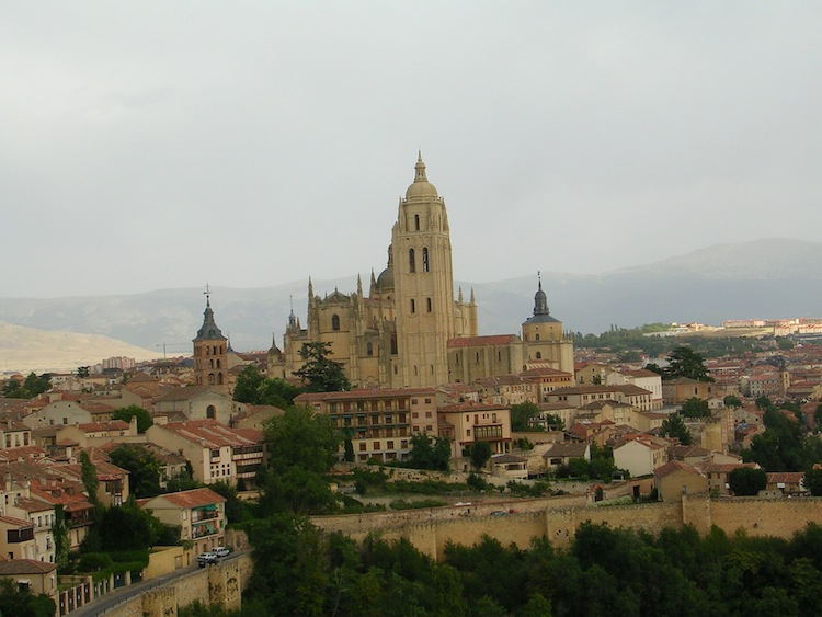 From the tower you can see Segovia, the medieval city wall, and the cathedral.