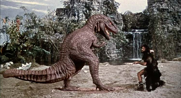 One Million Years BC Ray Harryhausen Allosaur Attack