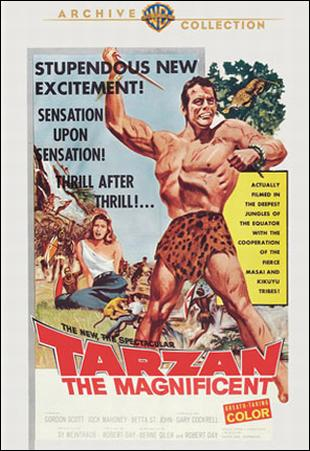 Tarzan the Magnificent Warner Archive DVD cover