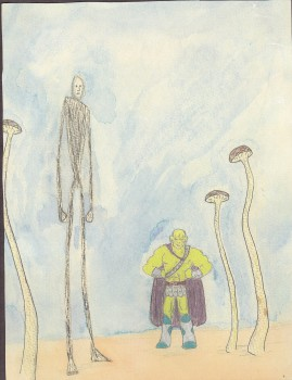 Nick Ozment, watercolor circa 1990