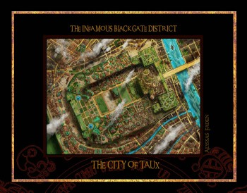 The Black Gate district of the city of Taux