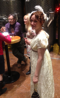 Steven Silver, Holly McDowell, and Mary Robinette Kowal in at the Without a Summer launch party