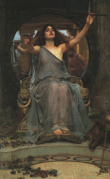 Circe Welcomes Odysseus, Waterhouse