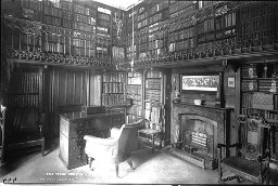 The study at Sir Walter Scott's Abbotsford House in Scotland. Postcard by James Valentine & Co published 1878. Photograph probably by James Valentine, who died in 1879. From the online collection of the University of St Andrews