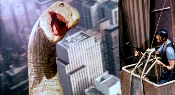 Q Winged Serpent attacks Chrysler building