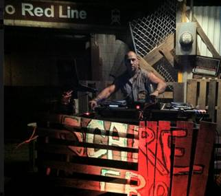 DJ Scare sets the mood