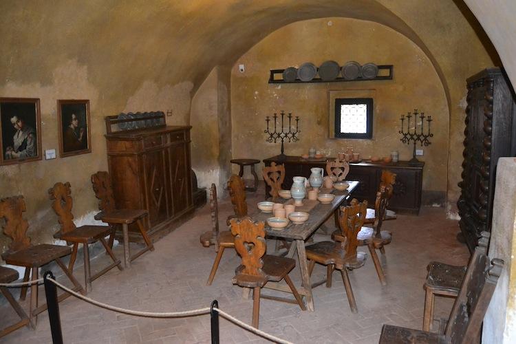 Recreated dining hall.