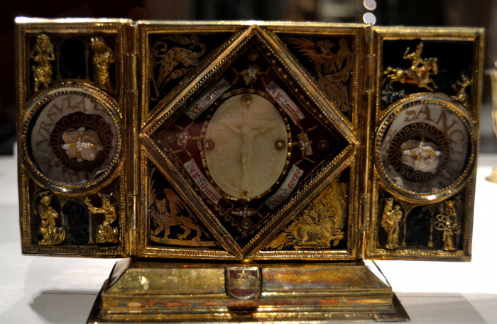 One of the many reliquaries in the treasury.