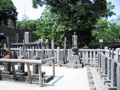 The graves of the 47 Ronin at Sengaku-ji, Japan