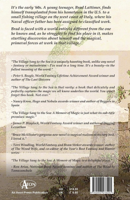 Back cover copy for The Village Sang to the Sea (click for bigger version)