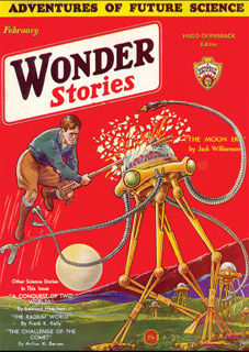 "Wonder Stories, February 1932, with Jack Williamson's ""The Moon Era"""