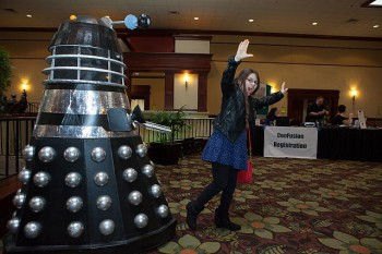 Daleks are the only real hazard at ConFusion. Photo by Al Bogdan.