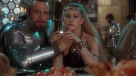 Liam Neeson and Helen Mirren in Excalibur