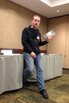 Blake Hausladen reads from Native Silver at Capricon 34