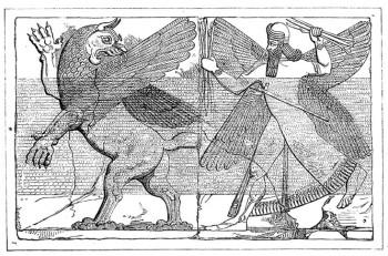 Tiamat battles Marduk