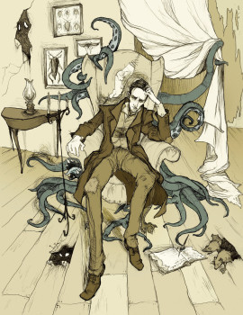 H_P__Lovecraft_by_MirrorCradle