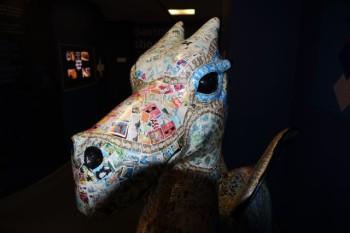"Welsh ""postage dragon,"" Newport Museum, Newport, Wales."