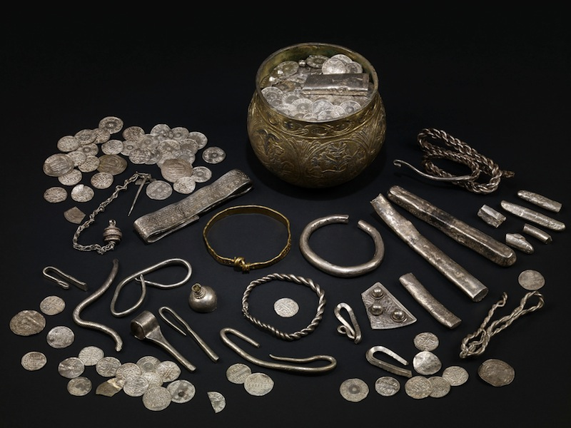 The Vale of York hoard, AD 900s. North Yorkshire, England. Silver-gilt, gold, silver.  Copyright The Trustees of the British Museum.
