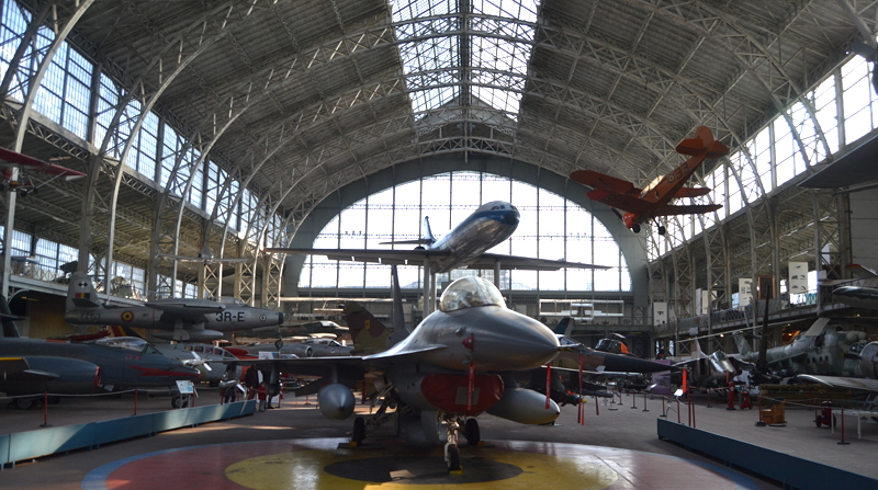 An airplane hangar attached to the museum has a collection of planes and helicopters from both world wars and later decades.