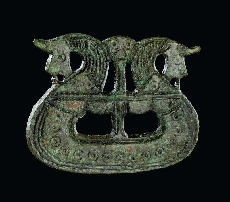 Brooch shaped like a ship, 800-1050. Fyn, Denmark. Copper alloy. Copyright The National Museum of Denmark.