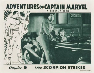 Adventures of Captain Marvel Scorpion Strikes lobby card-small