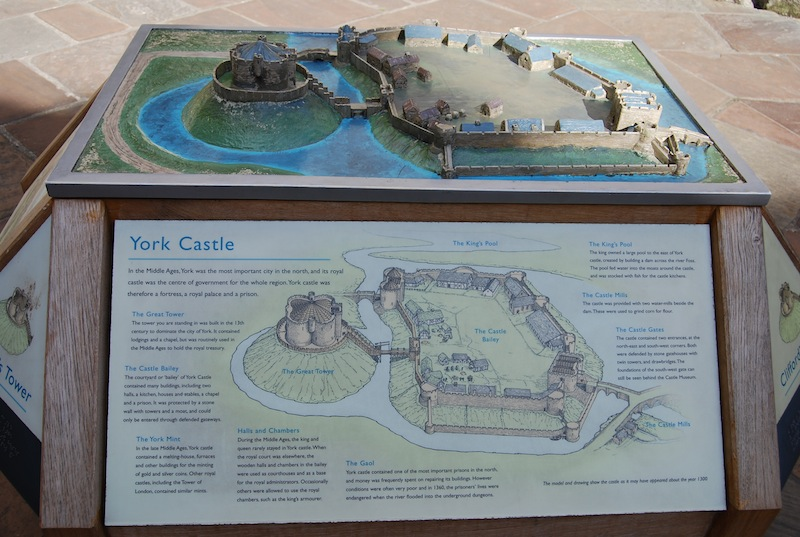 A model showing how the castle looked at its height.